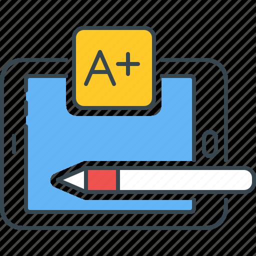 Grade, best, test, a+, result, marks icon - Download