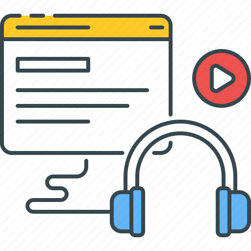 blended, learning, podcast, tutorial, video icon
