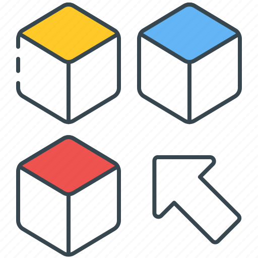 browse, courses, cubes, puzzle, skills, subjects, topics icon