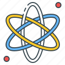 atom, chemistry, education, experiment, knowledge, research, science icon