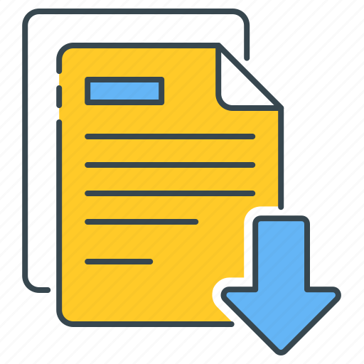 documents, download, files, literature, save icon