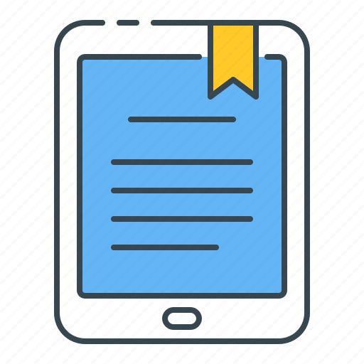 article, digital, ebook, magazine, online, reader, tablet icon