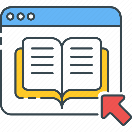 bookstore, digital, document, ebook, online, pdf, study icon