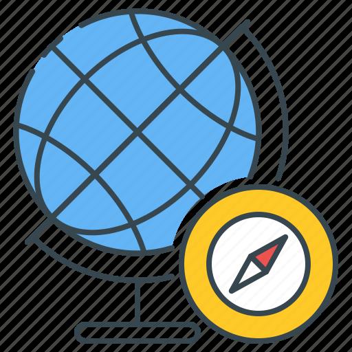 Geography, map, globe, global, compass, world, navigation icon