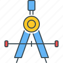 geometry, accuracy, accurate, drawing, precision, tool icon