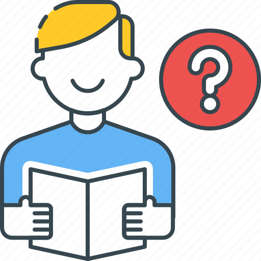 help, info, learning, question, service, study, support icon