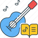 guitar, literature, music, play, serenade icon