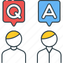 answer, answers, ask, help, q & a, question, questions icon