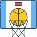 backboard, basket, basketball, equipment, sports icon