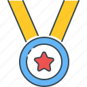 achievement, award, badge, medal, rank, reward, success icon