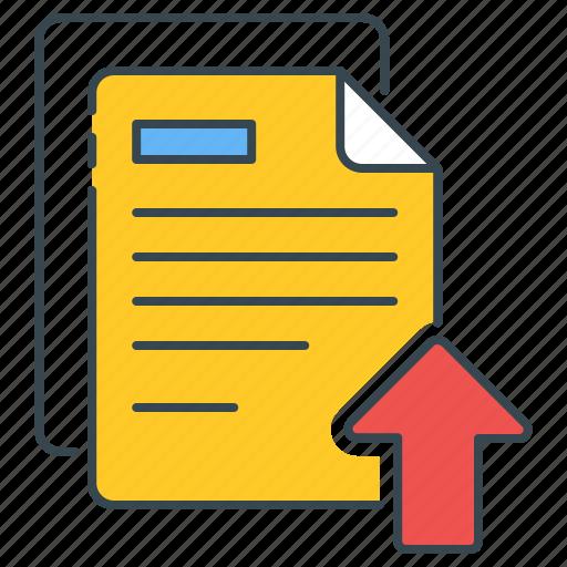 backup, data, documents, file, literature, storage, upload icon