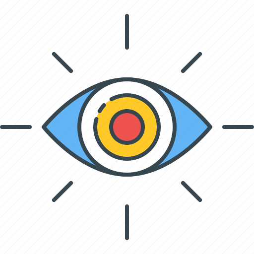 explore, eye, look, see, view, vision, watch icon