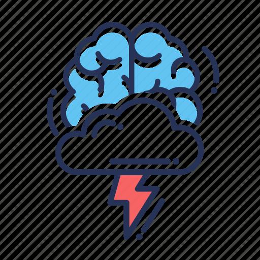 brain, brainstorming, creative, idea, mind, thinking icon