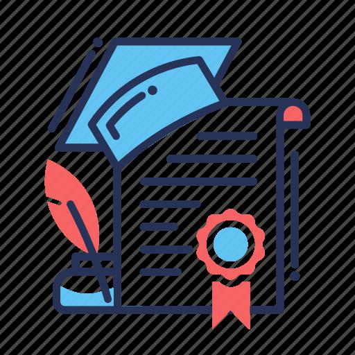 achievement, award, badge, certificate, degree, diploma icon