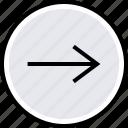 arrow, go, internet, next, online, web icon
