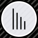 bars, data, down, internet, online, web icon