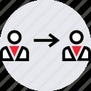 connect, conversation, internet, online, talk, web icon