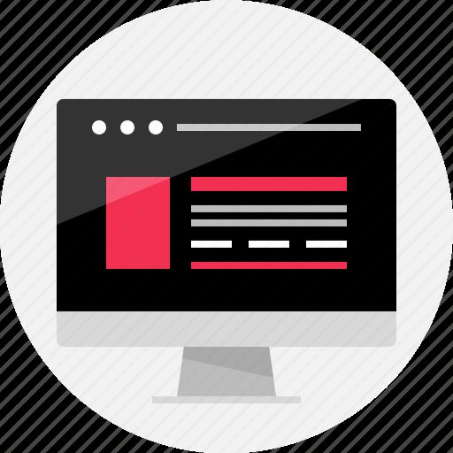 browser, desktop, imac, internet, mac, online, web icon