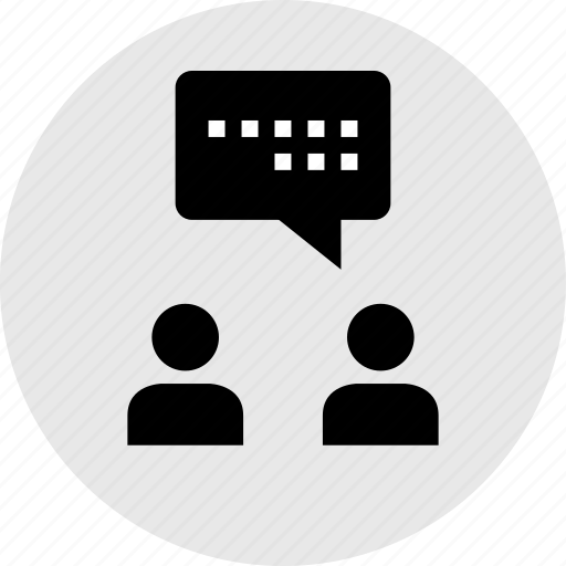 buddies, conversation, facebook, message, online, text icon