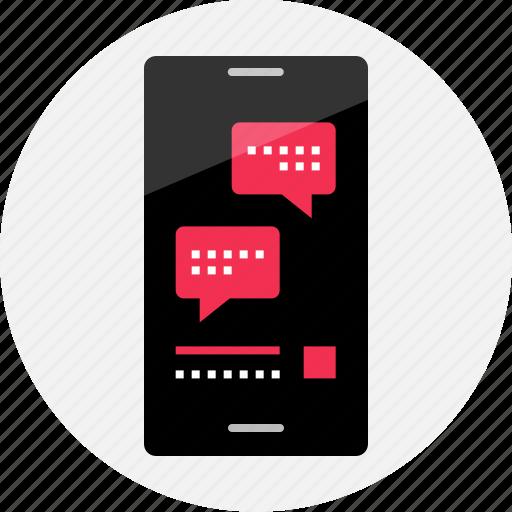 bubble, chat, conversation, facebook, messenger, online, talk icon