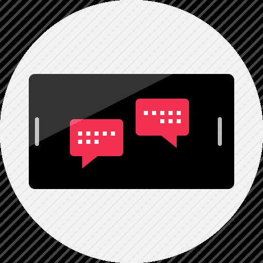 bubble, chat, conversation, messenger, online, talk, web icon