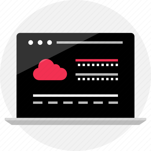 browser, cloud, guardar, laptop, online, save, web, wireframe icon