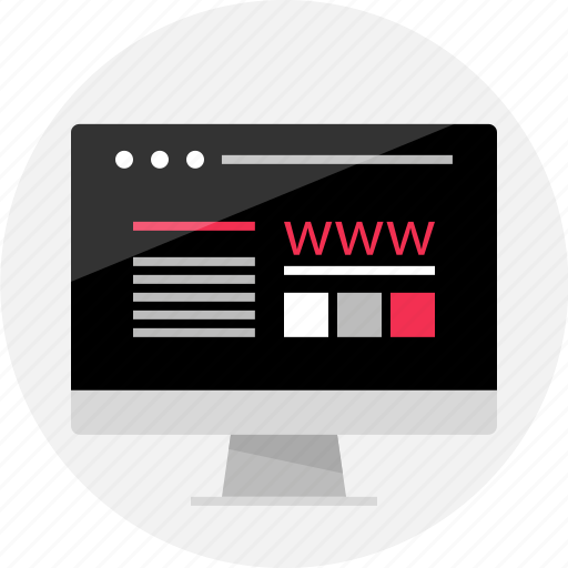 browser, computer, mockup, online, screen, web, website icon