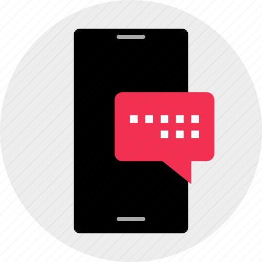 bubble, cell, chat, conversation, mobile, phone, talk icon