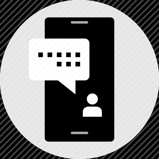conversation, internet, message, online, text, web icon