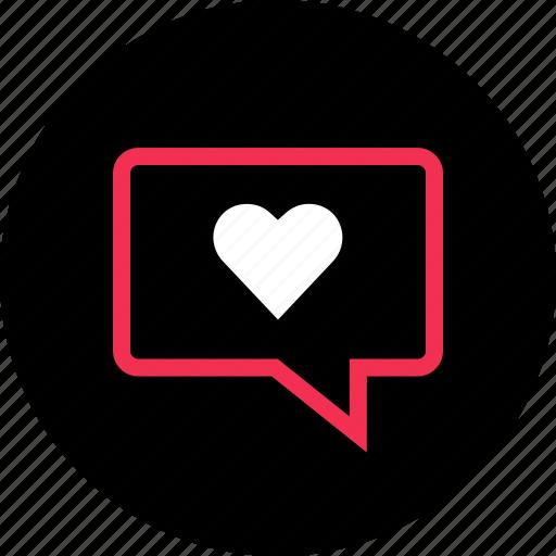 bubble, chat, love, messenger, talk, whatsapp icon