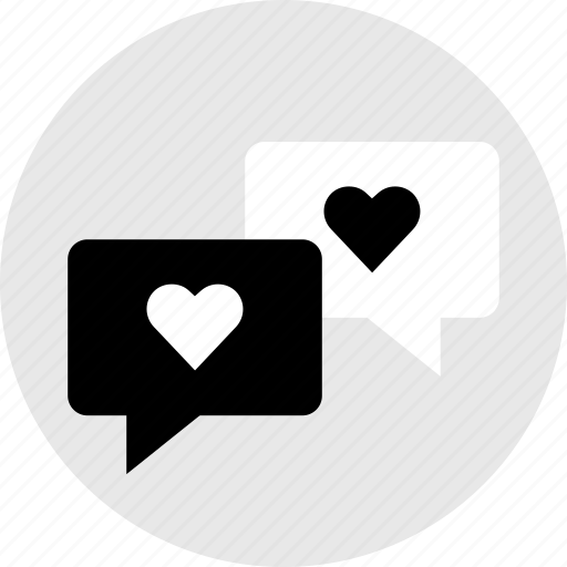 chat, conversation, hearts, love, sexting icon
