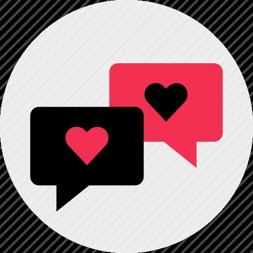 chat, conversation, love, messenger, talk, whatsapp icon
