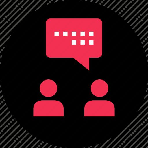 facebook, ichat, message, messenger, talk, whatsapp icon