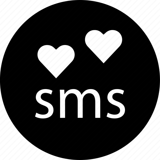 chat, conversation, hearts, messenger, online, sms, talk icon