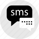 communication, conversation, internet, online, sms, web icon
