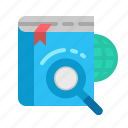 cloud, magnifying, online, glas, search icon