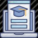 browser, computer, education, laptop, login, school, webpage