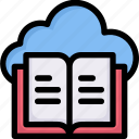 book data cloud, e-learning, education, learning, online, storage, study