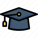e-learning, education, graduation hat, learning, mortarboard, online, study icon