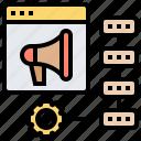 advertising, algorithm, analysis, ranking, results icon