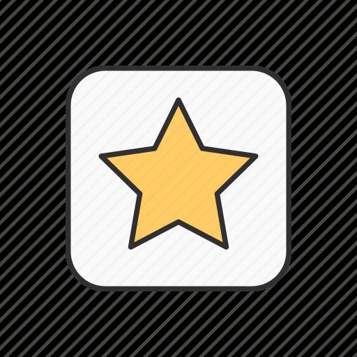 best, favorite, star, star button icon