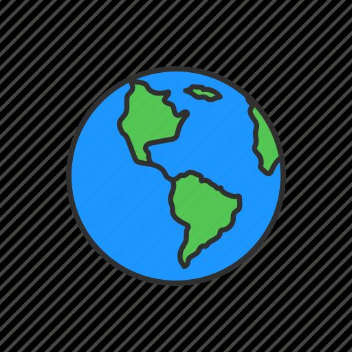 globe, world, world map, worldwide icon