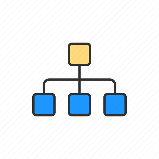 chart, connection, network, share icon