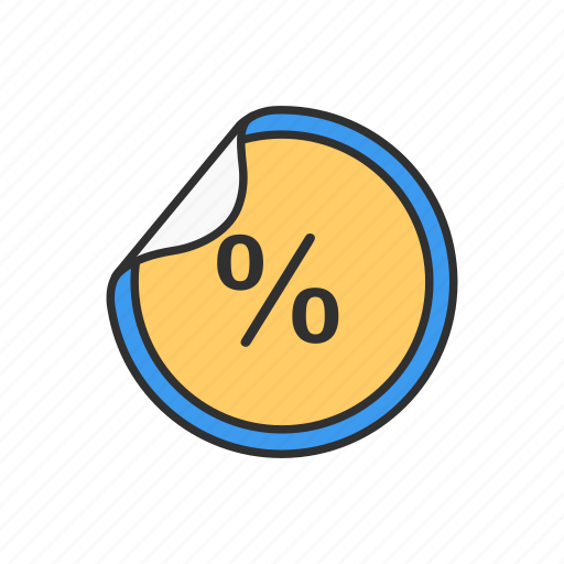 discount, percent, sale, shopping icon
