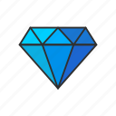 diamond, gem, jewelry, stone icon