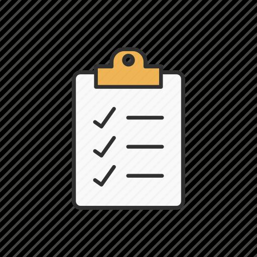 check, checklist, list, shopping icon