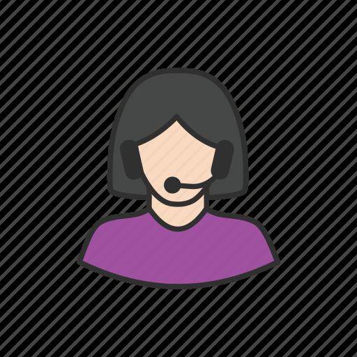 call, customer service, customer support, women customer support icon