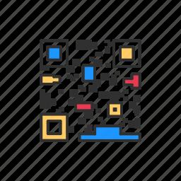 barcode, code, matrix barcode, qr code icon