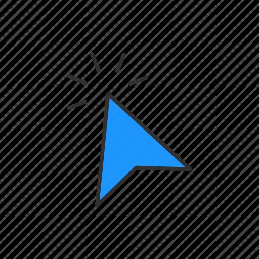click, cursor, pointer, tap icon