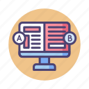 ab test, ab testing, experiment icon
